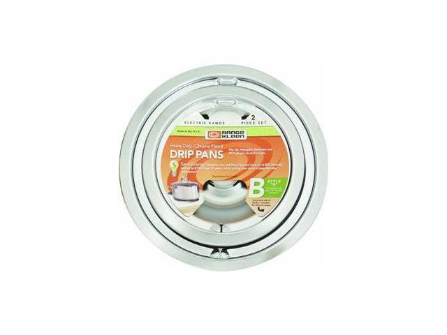 Range Kleen 139402Xcd5 Chrome Drip Pans - Plug-In Ranges; Fits Most Ge, Hotpoint, Kenmore & Rca photo