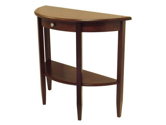 Furniture Living Room Furniture Table Black Half Moon Table