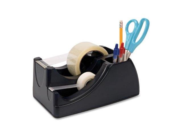 Recycled 2-In-1 Heavy Duty Tape Dispenser, 1' And 3' Cores, Black photo