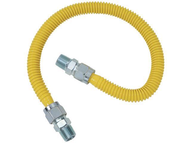 BRASSCRAFT Gas Range & Gas Furnace Flex-line 5/8' Od (1/2' Mip X 1/2' Mip) X 48' photo