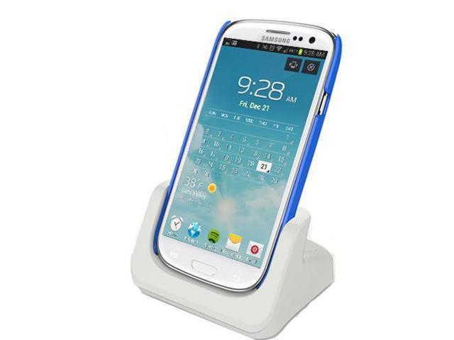 RND Dock for Samsung Galaxy S4 with AUDIO OUT and Dock Mode (compatible without or with a slim-fit case) (white)