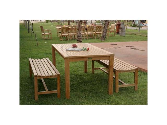 Furniture Outdoor Furniture Teak Bench Rectangular Teak Bench