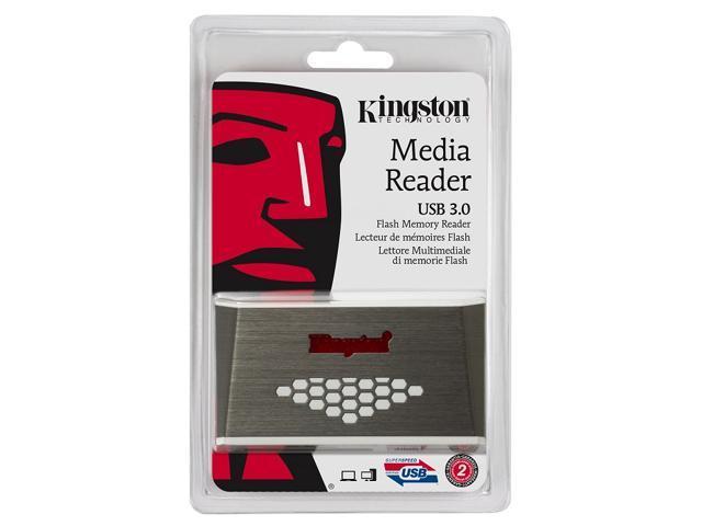 Kingston USB 3.0 Hi-Speed Flash Memory Card Media Reader Writer FCR-HS4 fit SanDisk Samsung microSD microSDHC microSDXC micro ...