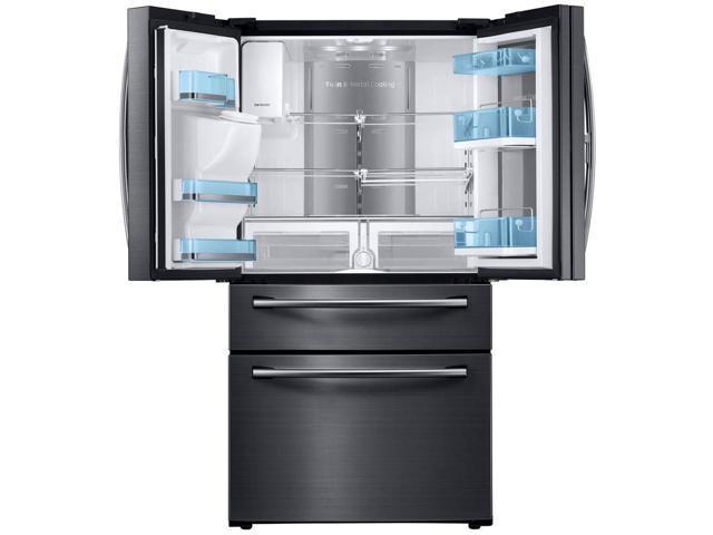 Samsung 27.8 Cu. Ft. Black Stainless Food ShowCase 4-Door French Door Refrigerator photo