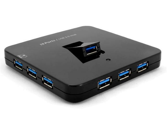 Sedna Desktop 10 Port USB Hub