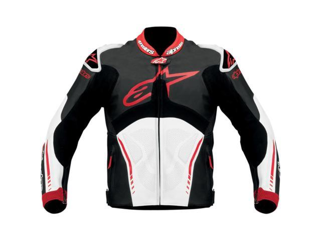 Alpinestars Atem Leather Motorcycle Jacket Black/white/red Eur60/us50