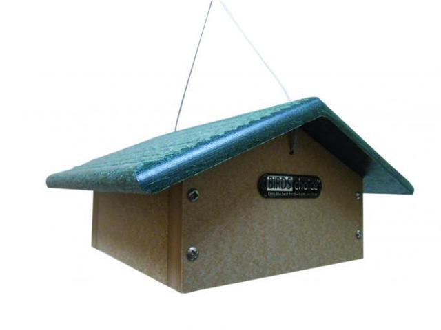 BIRD'S CHOICE #SNUDD RECYCLED DOUBLE CAKE UPSIDE DOWN SUET FEEDER - DOUBLE CAKE (789453900210 Home & Garden Decor Garden Sculptures) photo