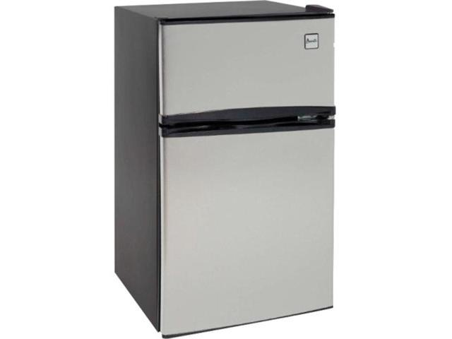 Avanti Energy Star 3.1 Cu. Ft. Two Door Compact Refrigerator/Freezer - Black and Stainless Steel photo