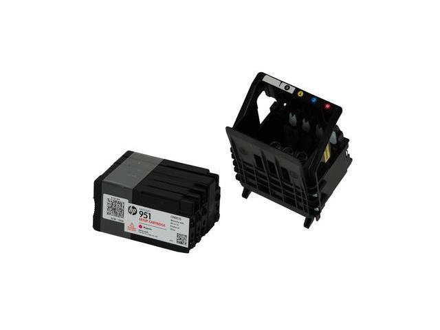 NeweggBusiness - Print Head with HP 951 Starter Ink for HP