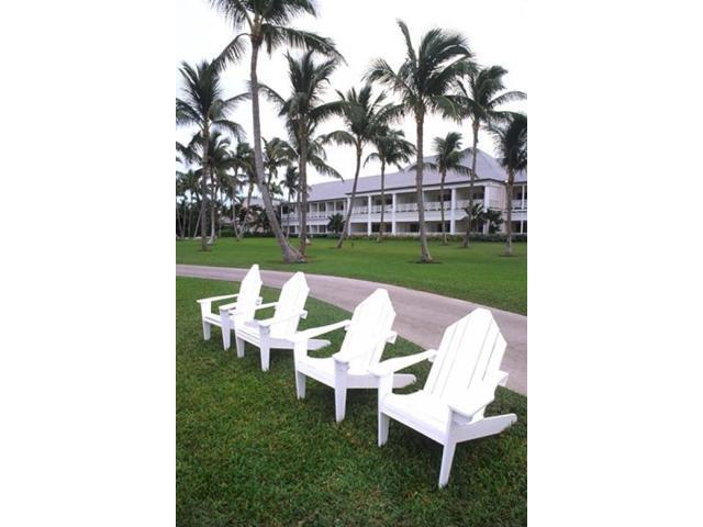 Posterazzi PDDCA05BBA0007 Adirondack Chairs Ocean Club in Paradise Atlantis Resort Bahamas Poster Print by Bill Bachmann (Arts & Entertainment Artwork) photo