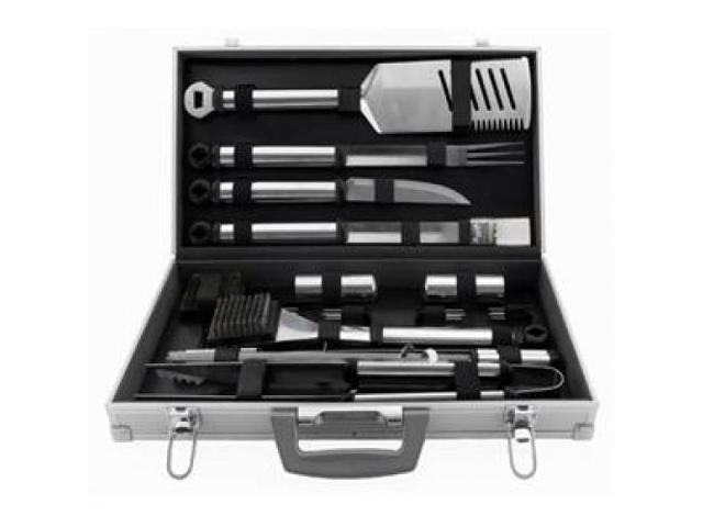 Mr. Bar-B-Q 02066X 21 Piece Stainless Steel Tool Set With ...