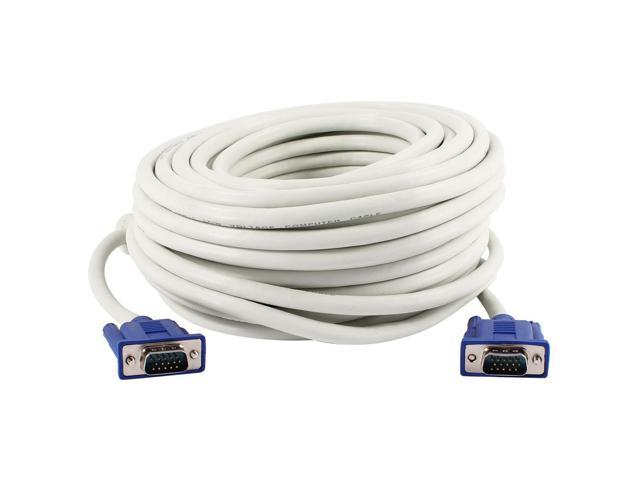 Unique Bargains 65.6Ft 20M Extension High Speed VGA Cable Off White for LCD Monitor Projector photo