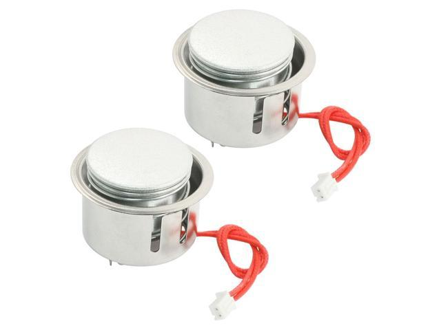 Global Bargains 2PCS Repair Parts Electric Rice Cooker Thermostat 49 x 37mm w 15cm Red 2-Wires photo