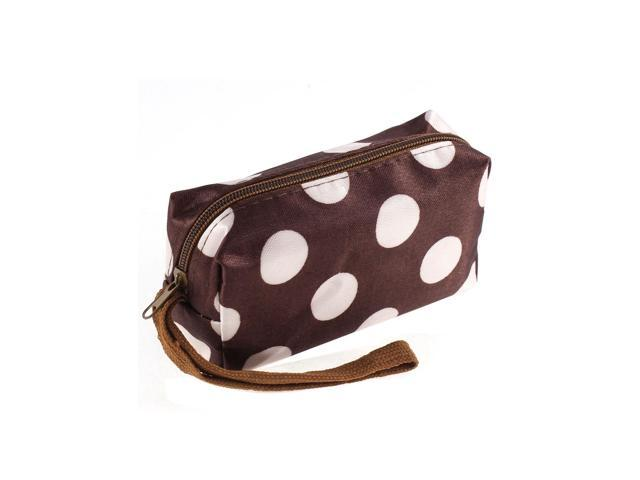 Dots Pattern Lady Purses Wallet Key Coin Change Holder Organizer Handbag Brown (Luggage & Bags) photo