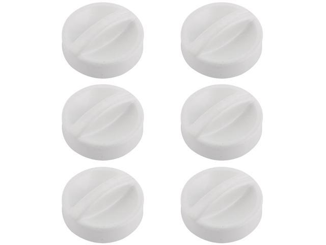 Home Plastic Washing Machine Replacement Washer Dryer Selector Knob White 6pcs photo
