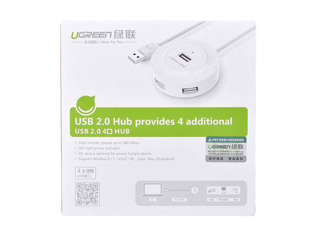UGREEN 20270 USB 2.0 Hub 4 Ports for Your PC, Cell Phones, EReaders,