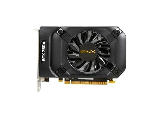 PNY NVIDIA GTX750 Ti 2GB OC DDR5 PCI Express DVI-I/DVI-D/mini-HDMI Video Card
