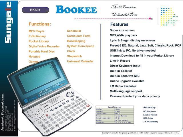 NeweggBusiness - Sungale BK610 Chinese-English E-Dictionary