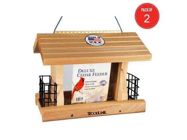 Woodlink Deluxe Cedar Bird Feeder with Suet Cages Model AT4 (Pack of 2) (Home & Garden Lawn & Garden Outdoor Living) photo