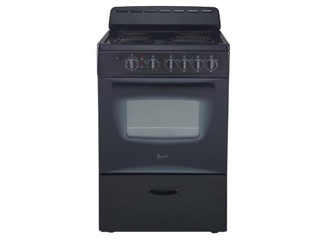 Avanti ER24P1BG 24' Freestanding Electric Range with Deluxe See-Thru Glass Oven Door, Black photo