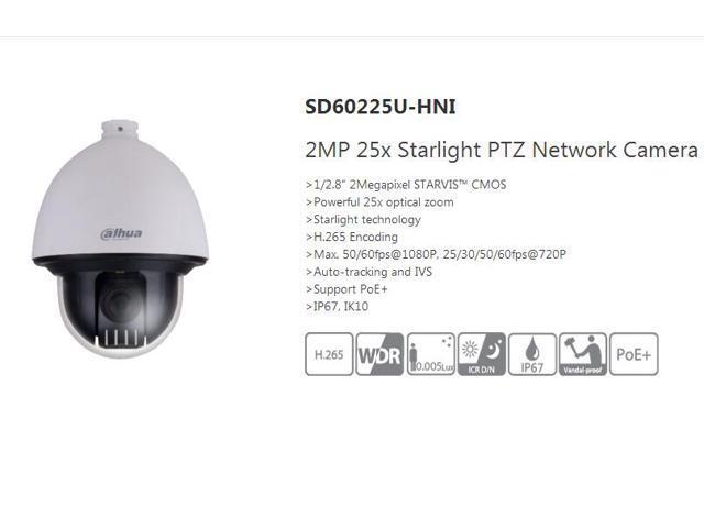 NeweggBusiness - Dahua SD60225U-HNI IP Camera 2MP 25x Starlight PTZ