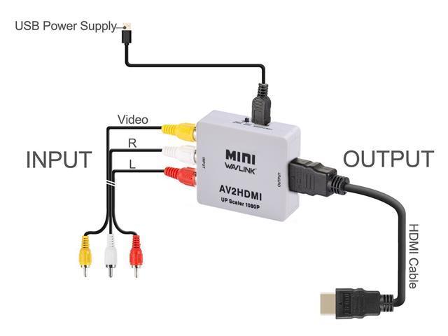neweggbusiness wavlink 1080p 3 rca cvbs composite av to hdmi Electric Motor Wiring Diagram wavlink 1080p 3 rca cvbs composite av to hdmi converter adapter mini composite cvbs to hdmi