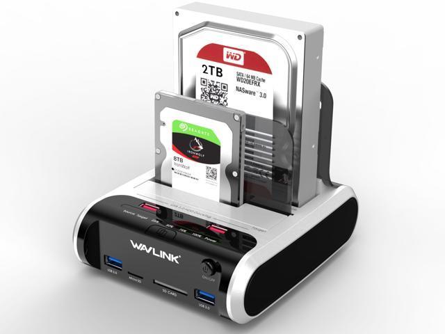 NeweggBusiness - Wavlink X-MAN USB 3 0 to SATA Dual-Bay Hard Drive