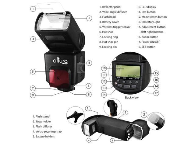 Neweggbusiness 2x Altura Speedlite Professional Ttl Flash Kit For