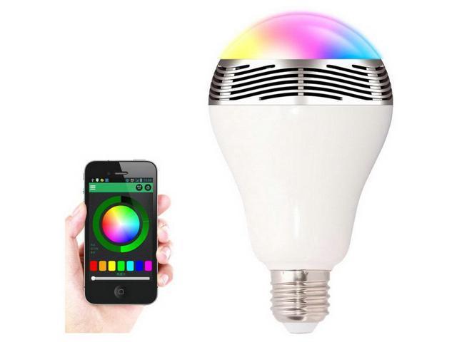 6W E27 Wireless Bluetooth Speaker  RGB Color Smart LED Light Bulb Lamp
