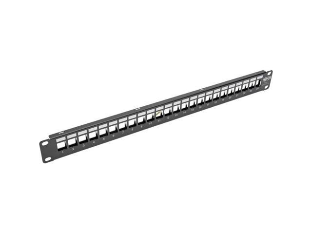 tripp lite 1u patch panel rackmount 24