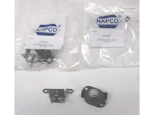 WP279973 2pk Dryer Thermostat Thermal Fuse Kit for Whirlpool & Kenmore 90 photo