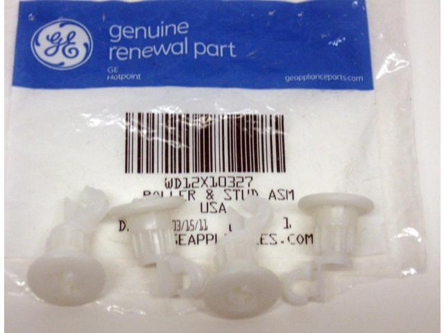 WD12X10327 Genuine GE Dishwasher Rack Rollers 4 per pkg AP4980629 PS3486910 photo