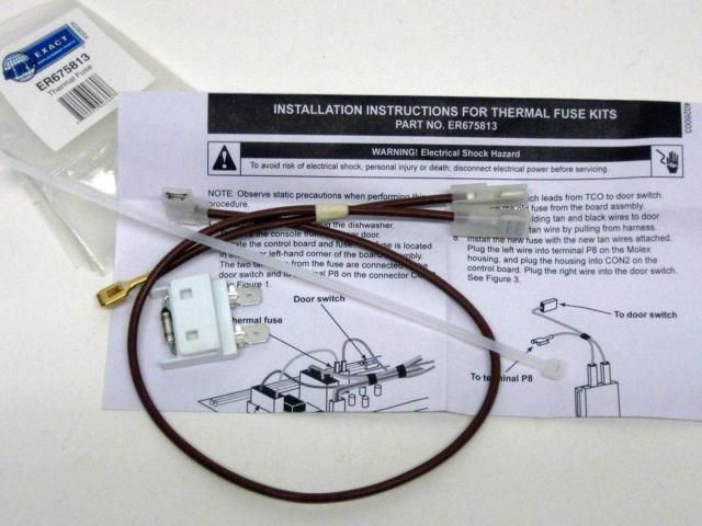 675813 for Whirlpool Kenmore Dishwasher Thermal Fuse Link for Door Switch photo