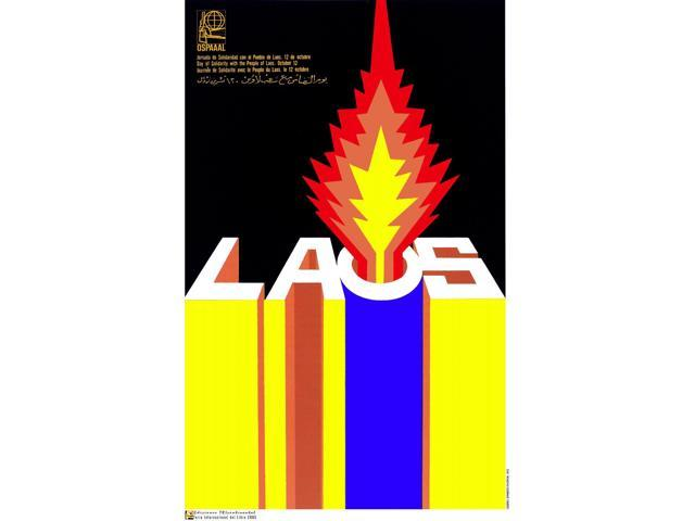 Political OSPAAAL POSTER.Solidarity with Laos.Lao.Cold War Art Design.asian 12