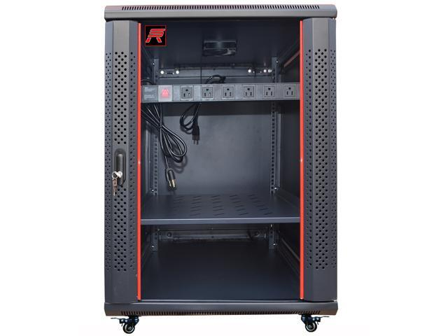 18u Server Rack Cabinet Enclosure Fully Equipped