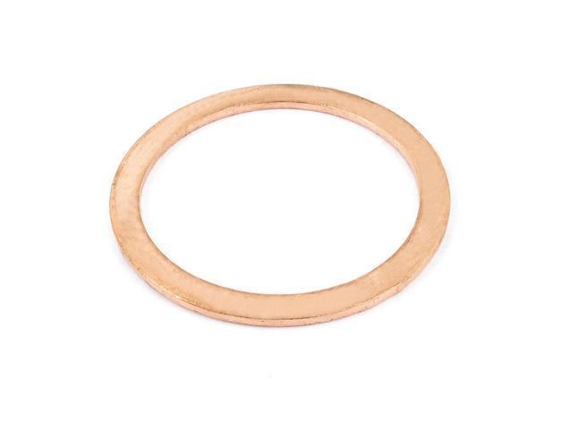 40mmx50mmx1.5mm Copper Flat Washer Gasket Seal Fitting Fasteners Engine Repair photo
