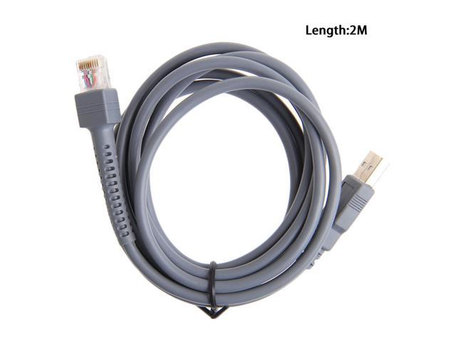 1 X USB A male to RJ45 Cable 7ft 2M for Symbol Barcode Scanner LS4278 LS2208