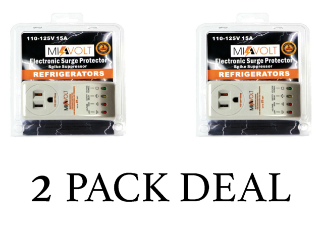 NEW 2-Pack Refrigerator 1800 Watts Voltage Brownout Appliance Surge Protector photo