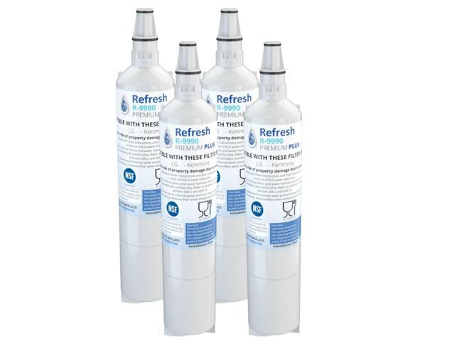 Refresh Replacement Water Filter - Fits Kenmore 9990 Refrigerators (4 Pack) photo