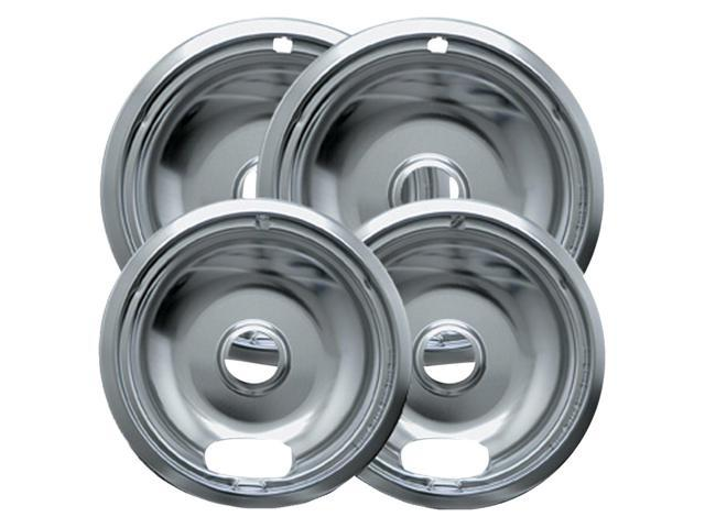 4pk Drip Pans Bowl Set For Frigidaire Kenmore Stove Range Burner Chrome 6 end 8' photo