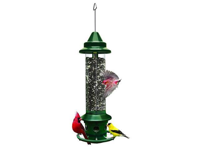 Brome 1024 Squirrel Buster Plus 6'x6'x28' Wild Bird Feeder with Cardinal Perc. (818203504085 Home & Garden Lawn & Garden Outdoor Living) photo