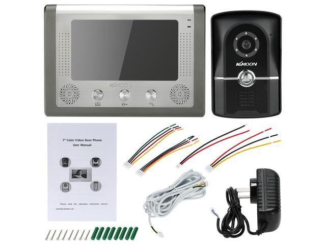 "NeweggBusiness - 1KKMOON 7"" Wired Video Door Phone System Visual"