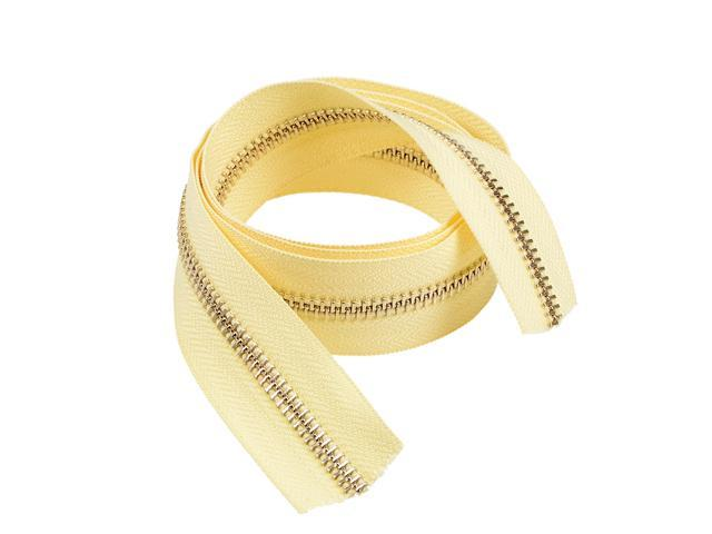 Textile Crafts Nylon Coil Zipper Light Yellow 36.6x1.2 inch (Without Zipper Head )for Sewing, Purse Making, Clothing (784958214732 Hardware Tools) photo