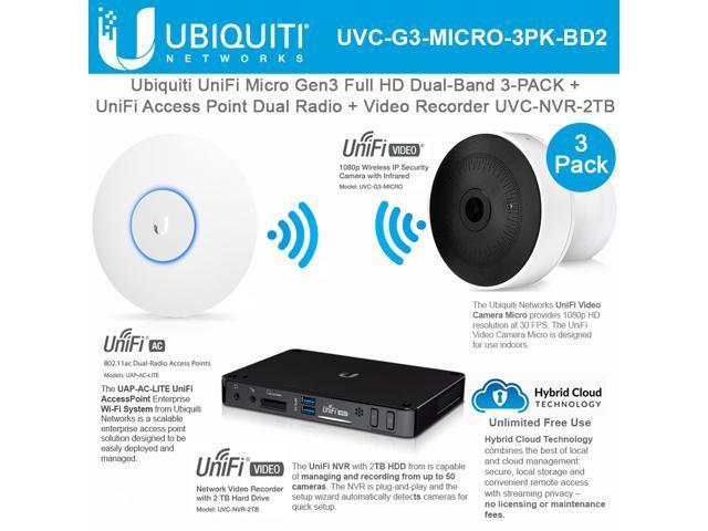 NeweggBusiness - Ubiquiti Networks UniFi UVC-G3-MICRO 3Pack