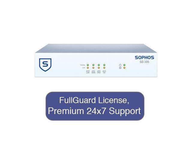 Sophos SG 115 / SG115 Firewall Security Appliance TotalProtect Bundle with 4 GE ports, FullGuard License, Premium 24x7 Support - 3 Years