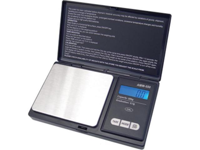 American Weigh Scales AWS-600-BLK Pocket Digital Personal Nutrition Scale - Black photo