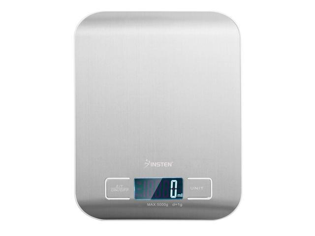 Insten New Silver 5Kg x 1g Digital Kitchen Scale Diet Food Compact Kitchen Scale With LCD Display photo
