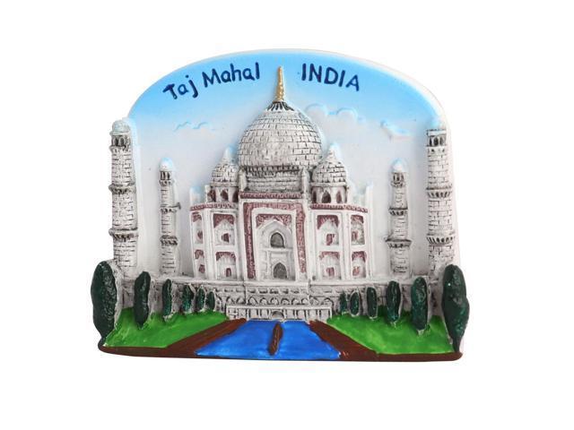 Kitchen Fridge Resin India Taj Mahal Scene Souvenir Decorative Magnet Sticker photo
