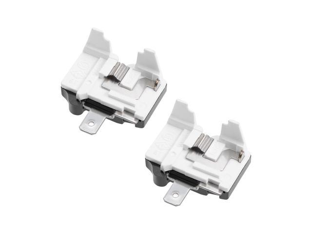2 Pcs Refrigerator Thermal Overload Protector 1/2HP 375W Freezer Compressor Replacement Part photo