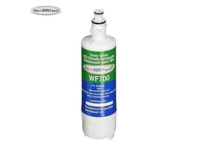 aqua fresh wf700 replacement refrigerator water filter for lg lt700p, adq36006101, kenmore 469690, water sentinal wsl3 single pack photo